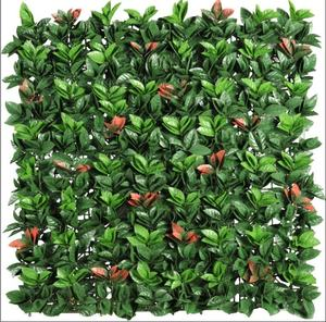 MZ188002A/B Decorative Plastic Green Plant Mat Panel Artificial Leaves Fence For Outdoor