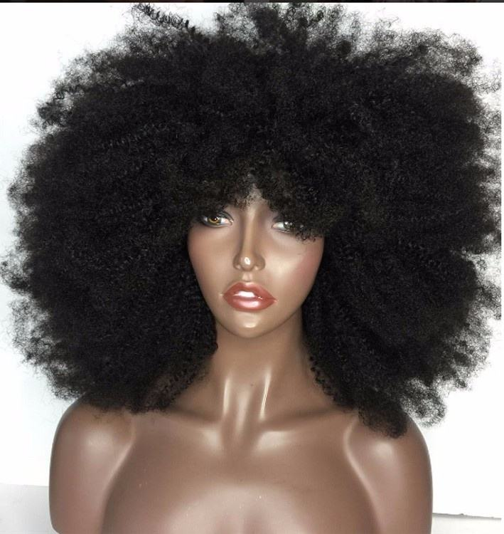 High Quality 4c Afro Kinky Curly Human Hair Lace Front Wigs Afro Kinky Human Hair Wig Mongolian