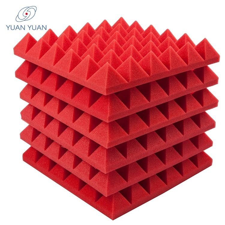 Hot selling High Density 100% Polyurethane foam panels soundproof studio acoustic foam