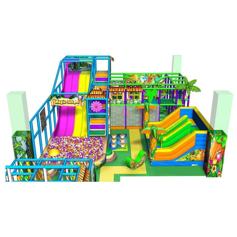 Jungle theme children commercial playground funny kids indoor playground equipment