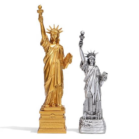 Hot Sale Polyresin Statue of Liberty Souvenirs New York Resin Statue Famous Figure Home Decor