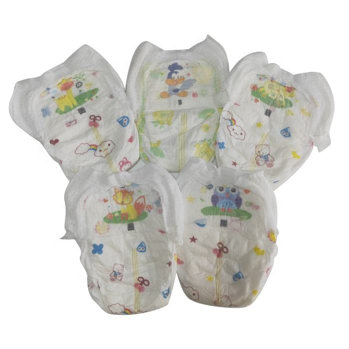 B grade bales healthy baby training pants diaper disposable in China
