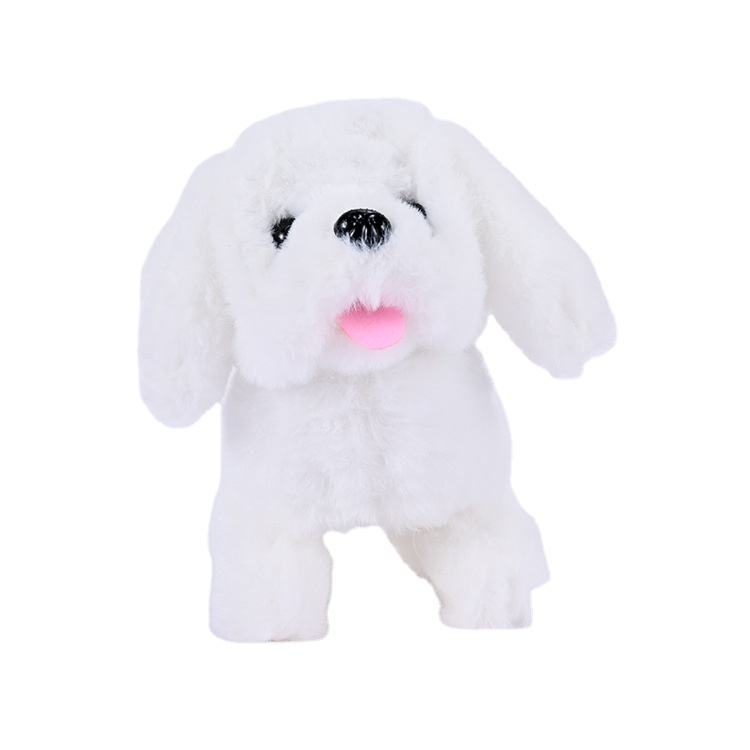 Wholesale toy dog electric simulation velvet Teddy will call walking puppy