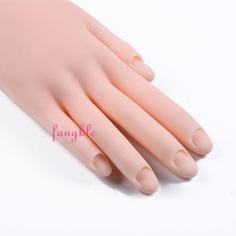 Groothandel Zacht Rubber Pvc Nail Trein Praktijk Manicure <span class=keywords><strong>Acryl</strong></span> Hand