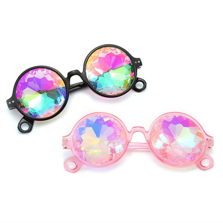 Wenzhou Zhejiang China Manufacturer Kaleidoscope Glasses Fashion Party Night Show Colourful Sunglasses Caleidoscoop Glasses