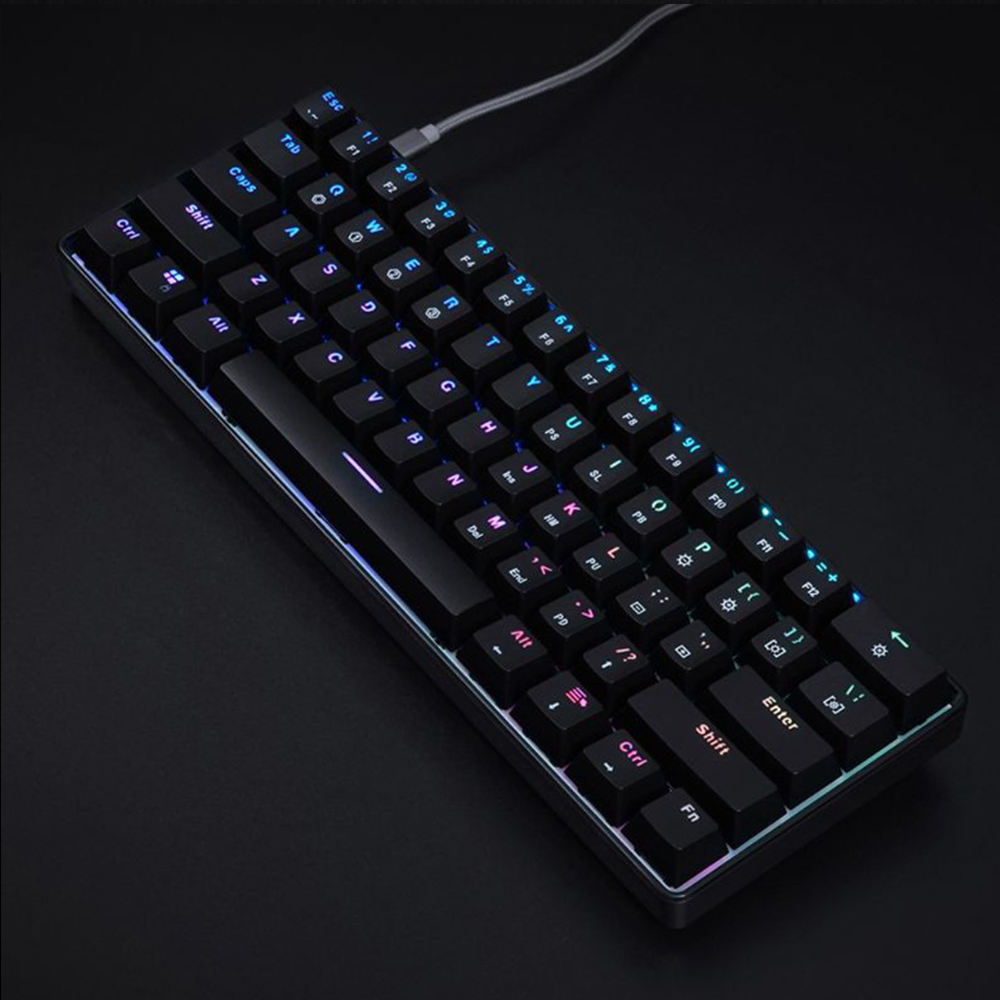 Hot Sell Rk61 Gk61 Sk61 ABS Keycaps 60% Mini Wired Led Gaming Mechanical Keyboard