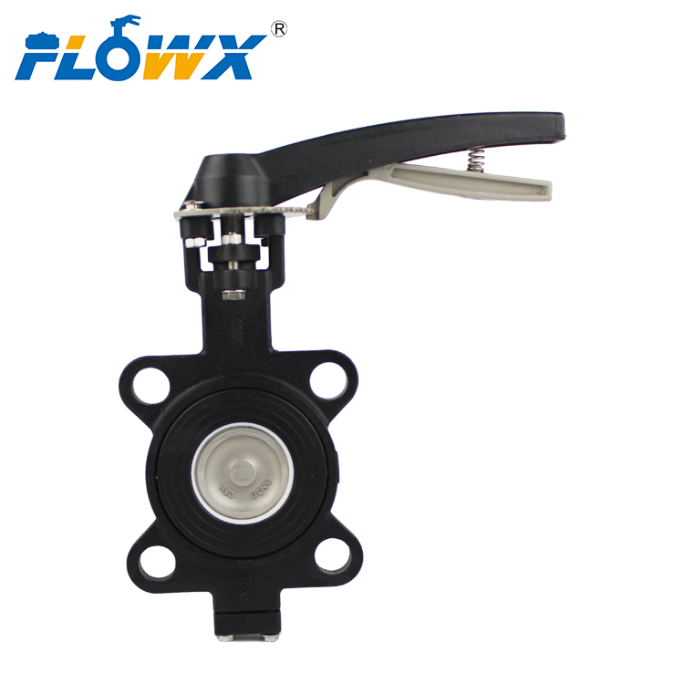 Wafer Connection PN16 Butterfly Valve Manual Control Valve 3 Inch
