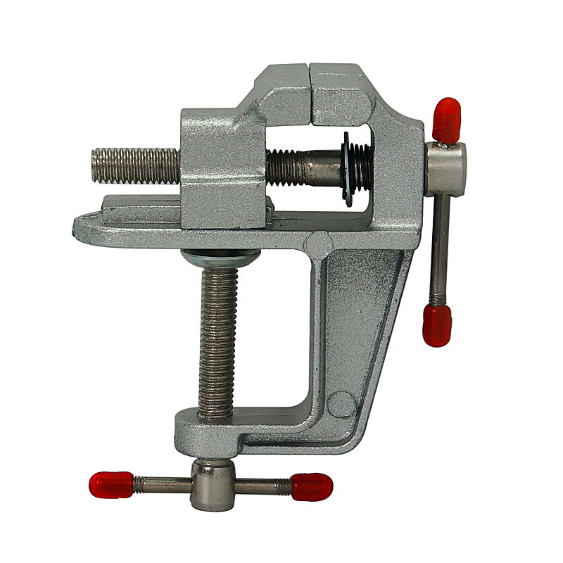 Aluminum Miniature Small Jewelers Hobby Clamp On Table Bench Vise Mini Tool Vice