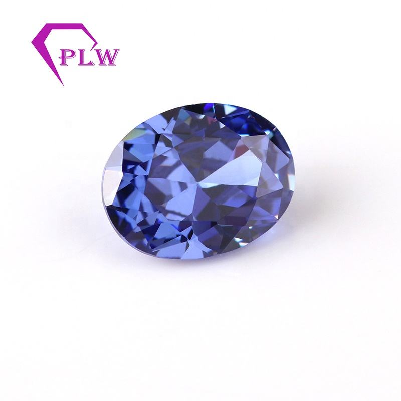 Beauty nice 7*9mm oval shape blue color tanzanite stone for jewelry decorative
