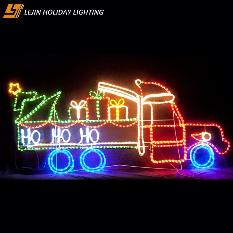 cheap price outdoor motif decoration 3d train christmas rope light