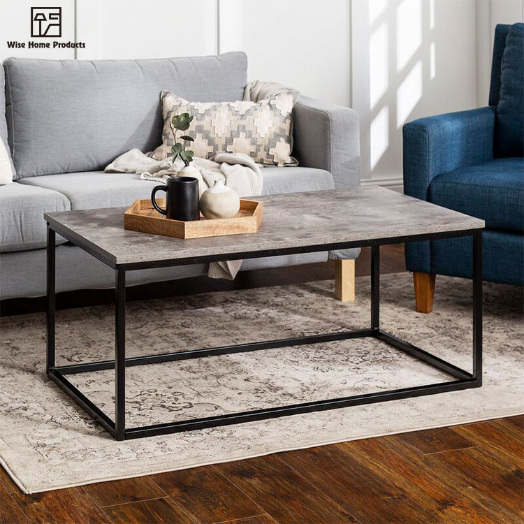 Free Sample Cheap Square 1 Set Coffee Table With Marble Top