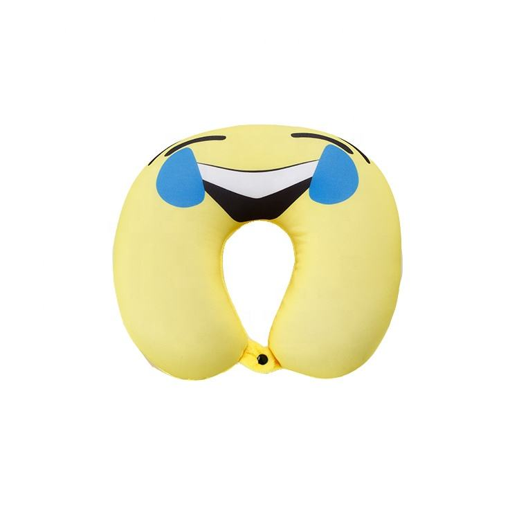 Cheap comfy u cartoon micro bead airplane travel pillow for neck