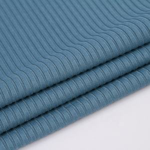 eco friendly ribbed 4*2 knit polyester rib fabric jersey for clothing