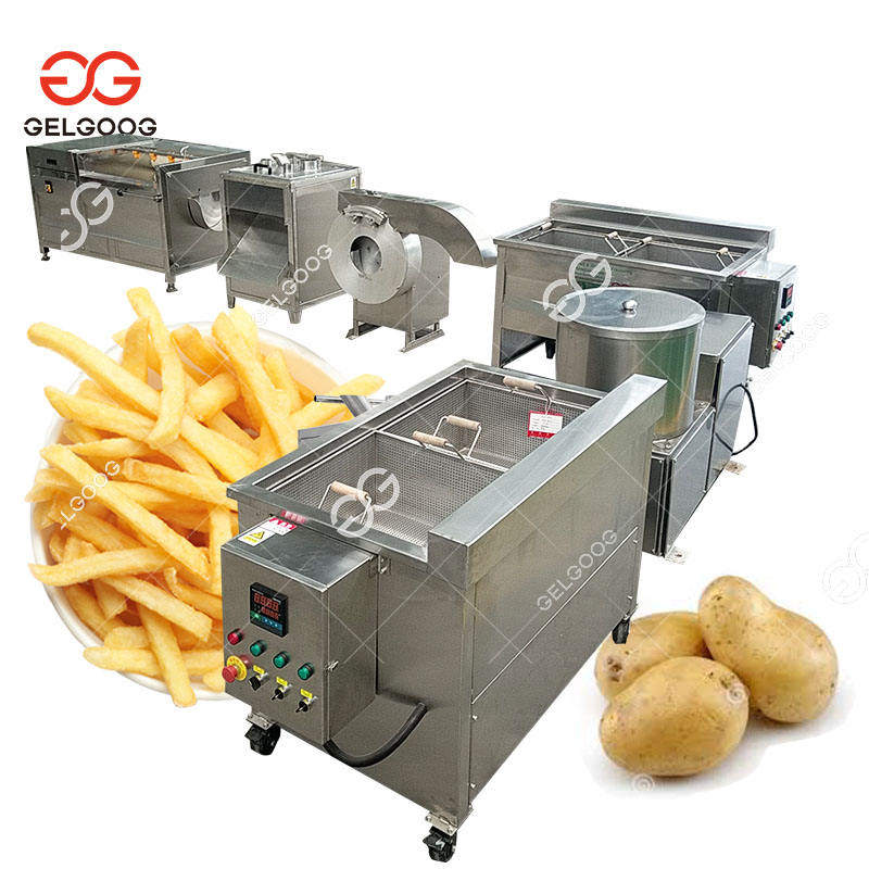 Small Potato Chips Produce Line Frozen French Fries Making Machine