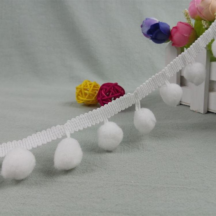 Algodão Crochê Pompom Tassel Fringe Tassel Aparamento Guarnição do Laço de Fita Com Pom Pom Para cortina