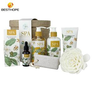 high quality body lotion bath powder special design bath gift set with paper box