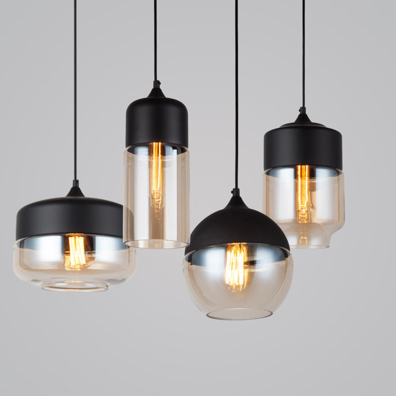 Vintage lighting pendant chandeliers and hanging lamps led pendant lights nordic modern glass decorative ceiling lights