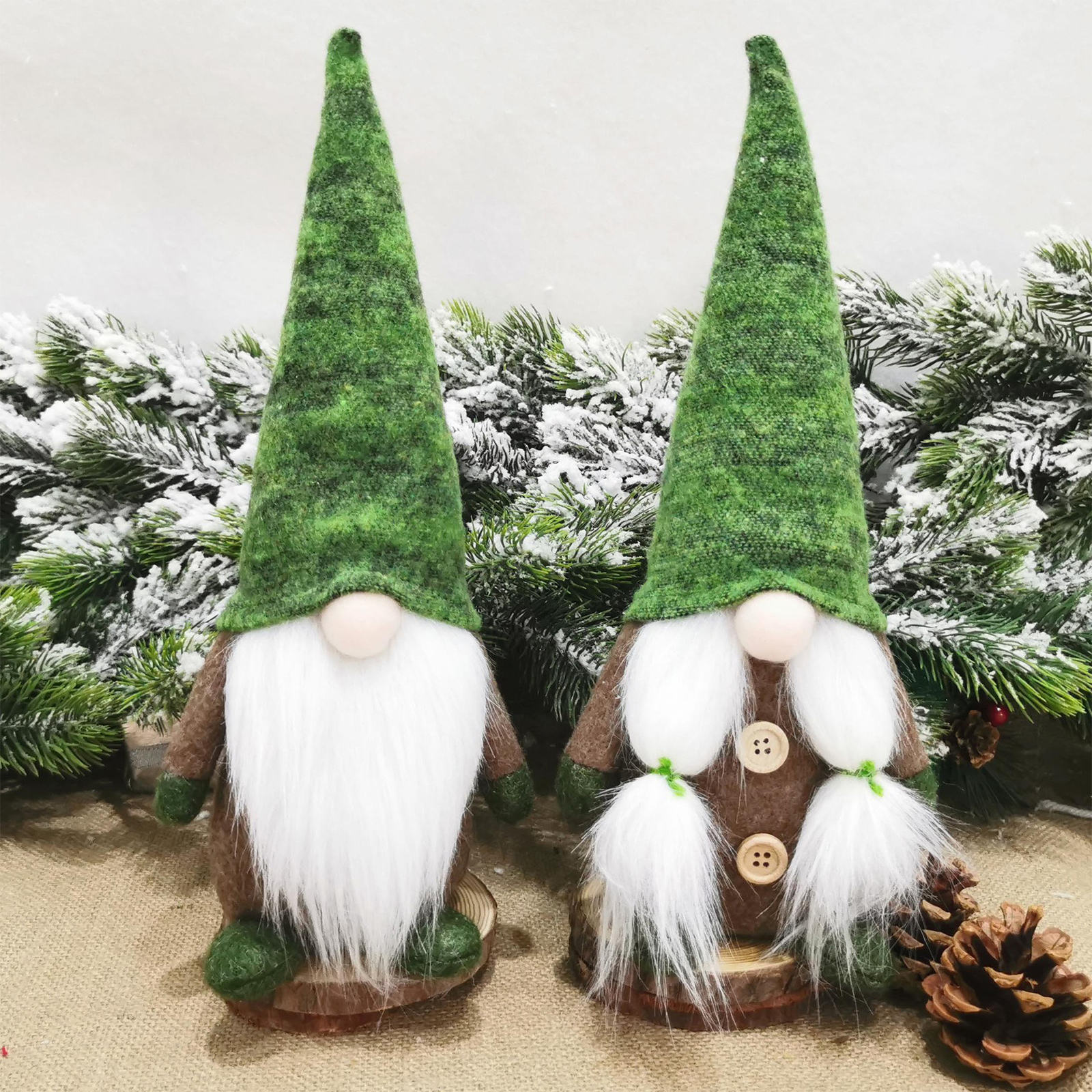 Christmas Gnomes Plush Handmade Swedish Tomte Santa Scandinavian Figurine Plush Elf Doll Gnome Ornaments Christmas Decorations