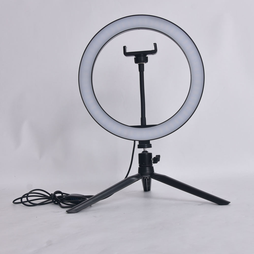 Cheap Price LED selfie ring light with tripod stand for for Live Stream/Makeup