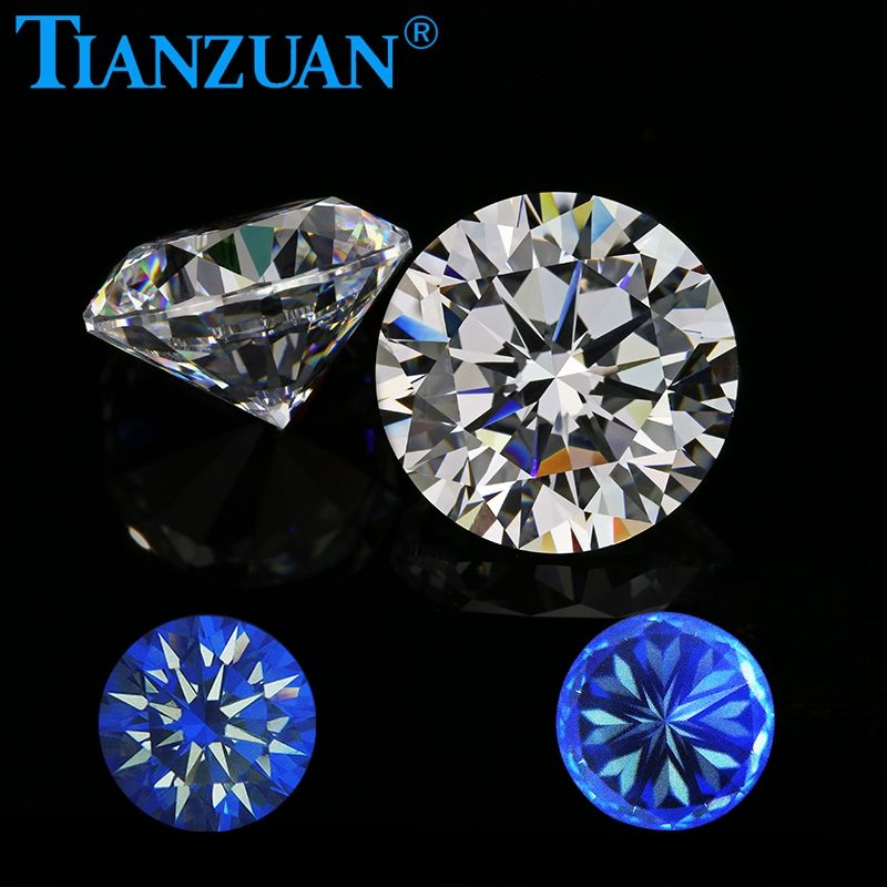 European Machine cut AAAAAA round shape Star Cut White cubic zirconia synthetic CZ stone