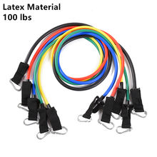 100lbs Latex Resistance Bands Wholesale Fitness, 11 pcs Resistance Band Set for Indoor Sports Strength Training