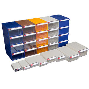 Plastic drawer box hardware storage drawers & Plastic stackable Storage drawer