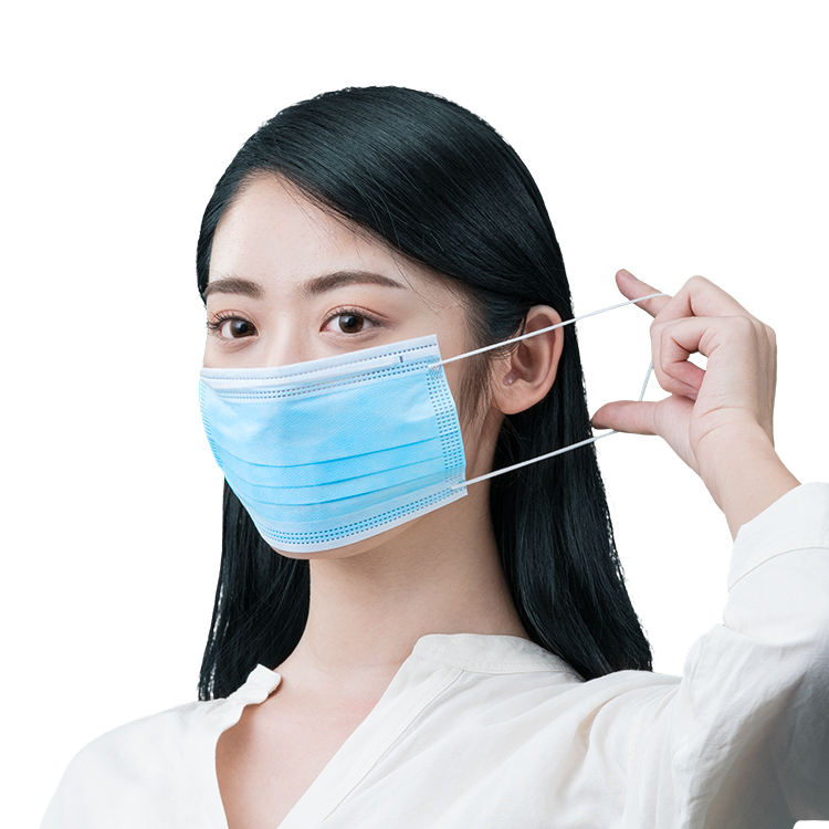 Cheap Anti-pollution Elastic Earloop 3 Layer Disposable Surgical Face Mask Shield