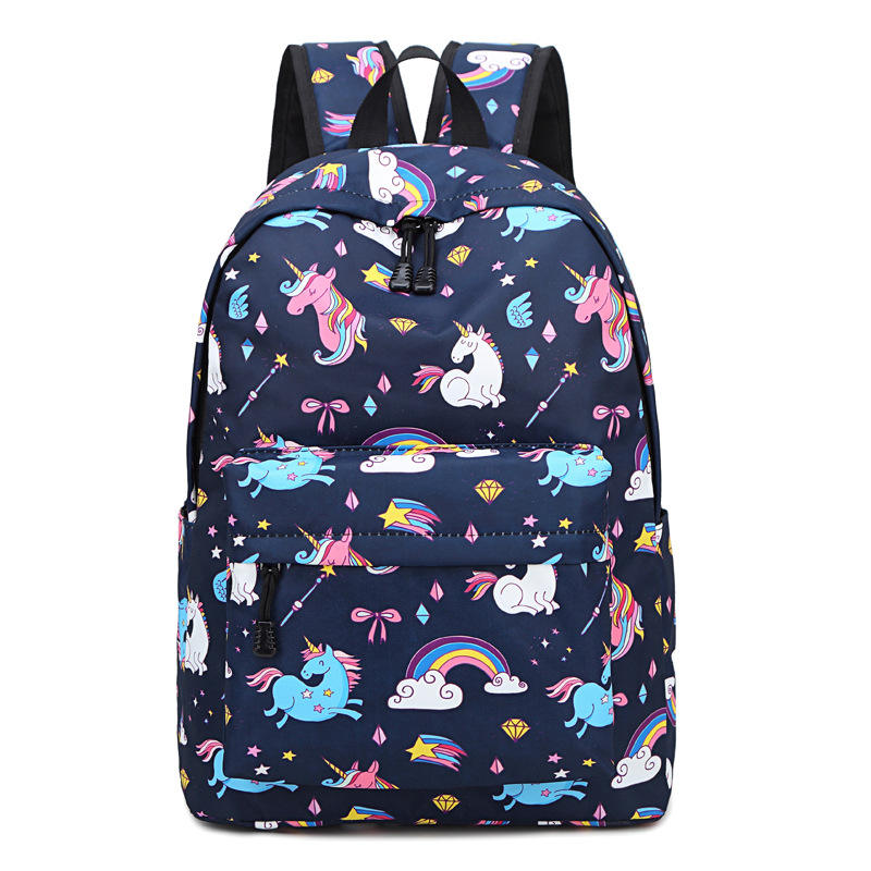 Hot selling Fashionable girls cute school bag all over print backpack