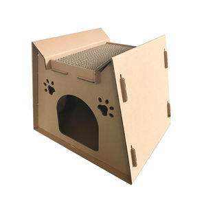 Eco friendly paper cat scratcher cardboard cat house for playing and rest