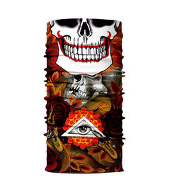 Wholesale custom multifunctional seamless headwear Face Shiled neck warmer collar tube scarf bandana