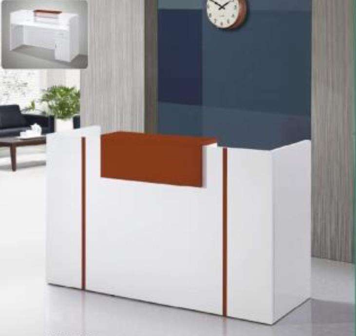 Simple and modern reception desk company paint front desk bar counter cashier counter information desk