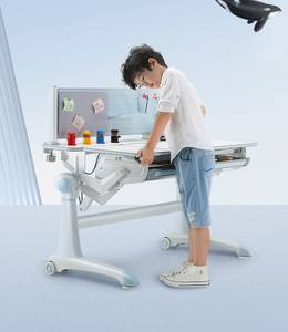 blue chair istudy ergonomic desk with drawer for kids and students