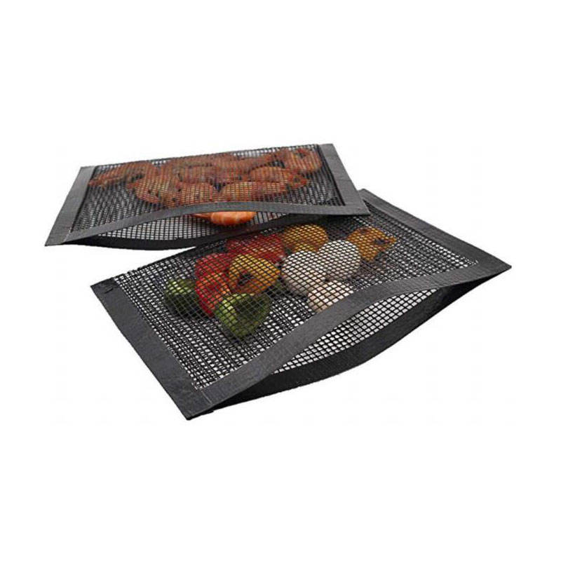 PTFE coated fiberglass fabric BBQ Grill Mesh Bags hot selling high quality 1 pcs nonstick mesh grilling bags