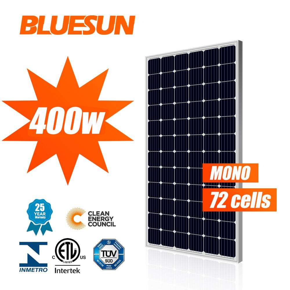 Bluesun 400 Watt Solar Panel Mono 370W 380W 390W 400W Solar Cells Cheap Solar Panels Price For Sale