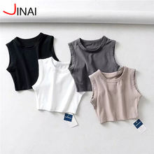2020 Gym Cute Workout Crop Tops for Women Athletic Workout Basic Stretchy Casual Scoop Neck Sleeveless Crop Tank Top