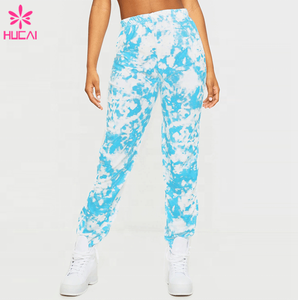High quality custom casual cotton long womens jogger tie dye sweatpants women