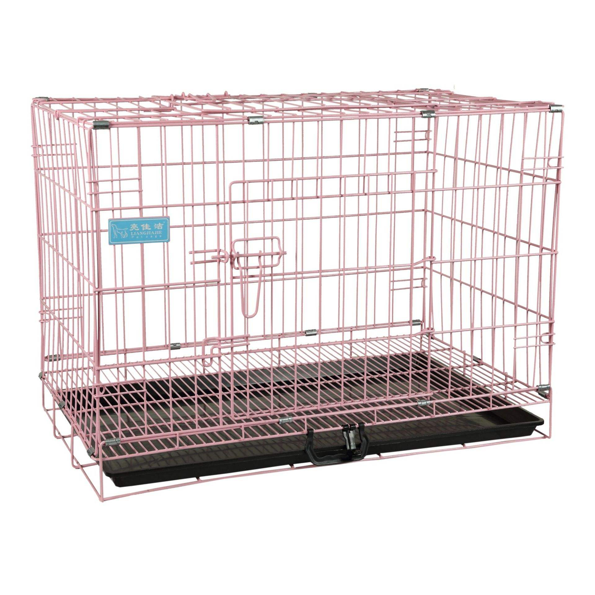 Good-selling metal wire dog cages in pet shops have ABS trays