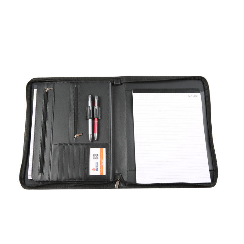 High Quality Black Leather Portfolio Folders