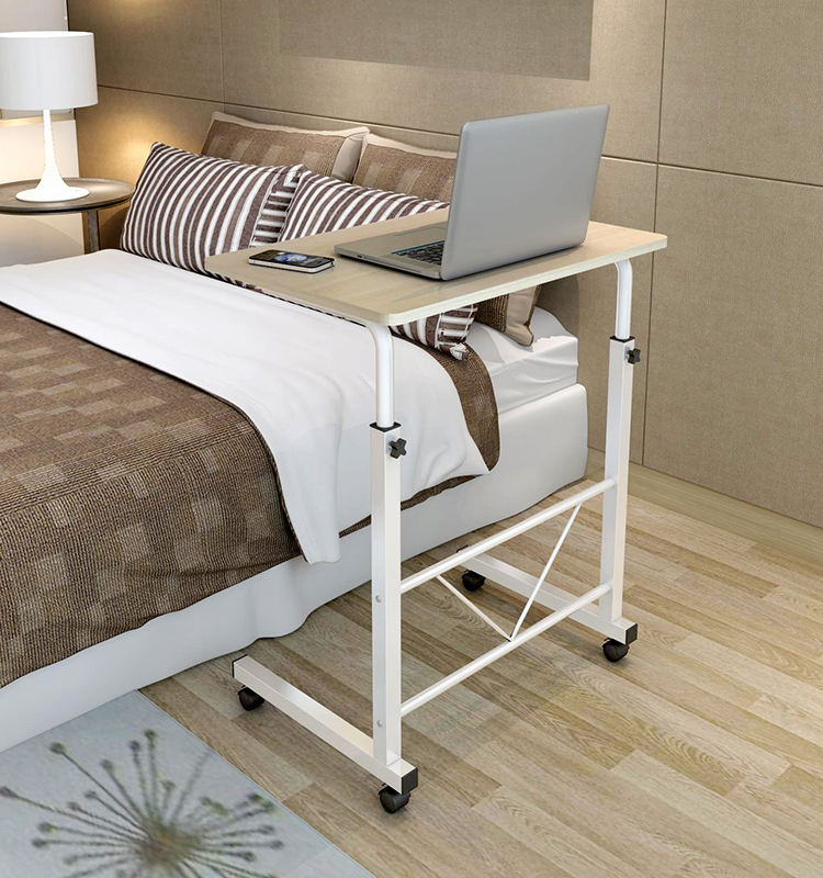 Foldable adjustable bed wood models computer side table with printer design