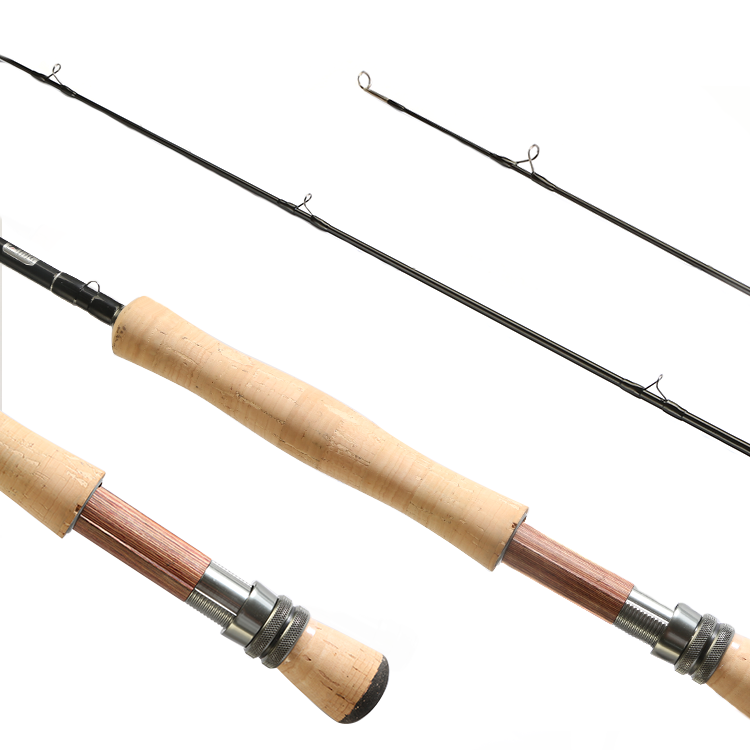 Hanhigh fly fishing rod 4 section combo 8/9ft rod blanks fly fishing