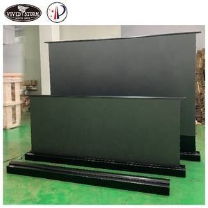 VIVIDSTORM 110 inch cinema electric projection screen floor screen for UST ALR Laser Projector motorized 4K UST projector