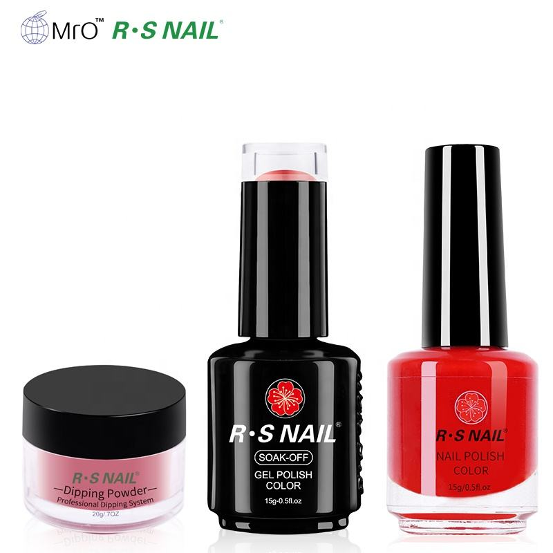 2020 Hot Selling Triple Bijpassende Uv Gel Polish <span class=keywords><strong>Nagellak</strong></span> Dompelen <span class=keywords><strong>Poeder</strong></span> 3 In 1 Set 15Ml Aangepaste Prive label Gel Kit