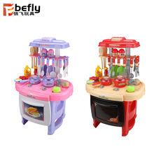 Funny pretend cooking game plastic kitchen toys play set for kids