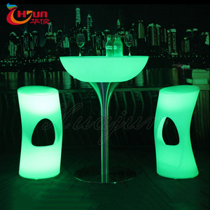 portable remote control 16 colors changing illuminated led light high top table wedding event party cocktail table