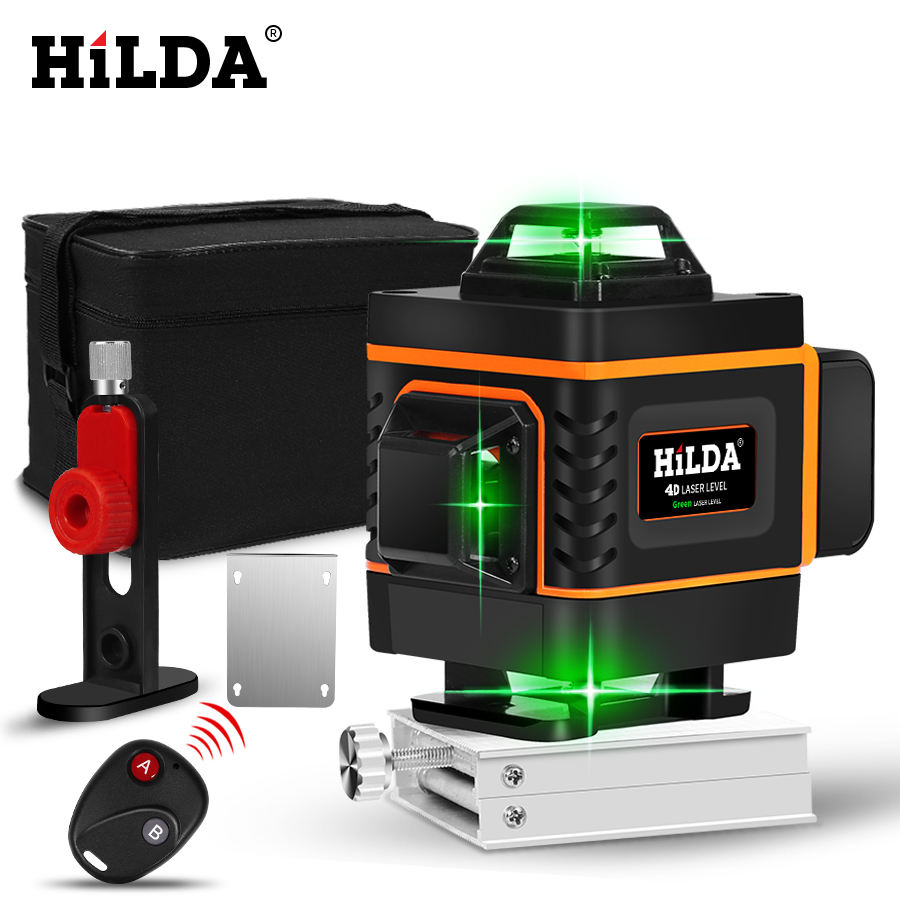 4D Green Self-Leveling 360 degree Horizontal Vertical 16 lines laser level 4D laser level