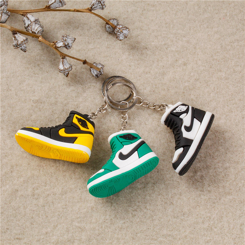 In Stock Wholesale Custom Colorful AJ Keychain Rubber Nike Shoe Man PVC Keychain