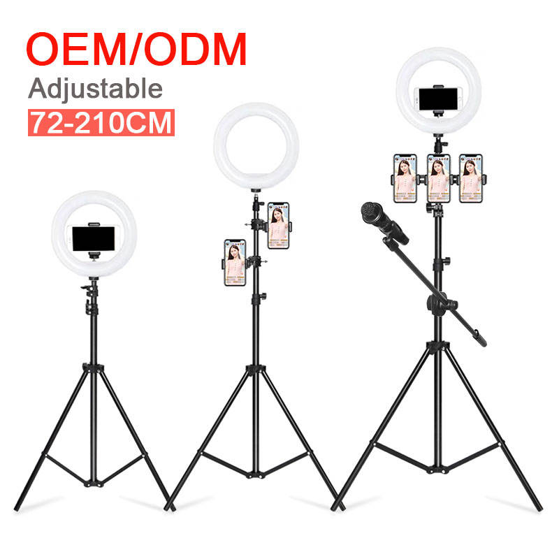 Amazon Photographic Light Phone Led Video Ring Light with Tripod Stand / Camera Circle Selfie Led Ring Light