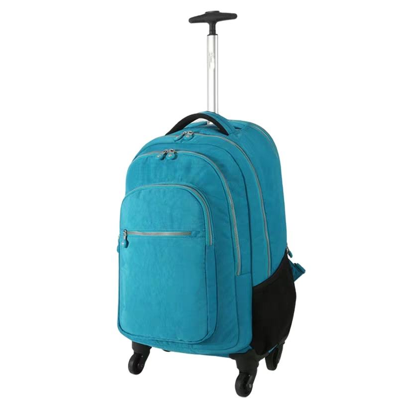 Wheeled Backpack Laptop Backpack with Wheels Rolling Travel Backpack Trolley Luggage Suitcase Compact Business Bag