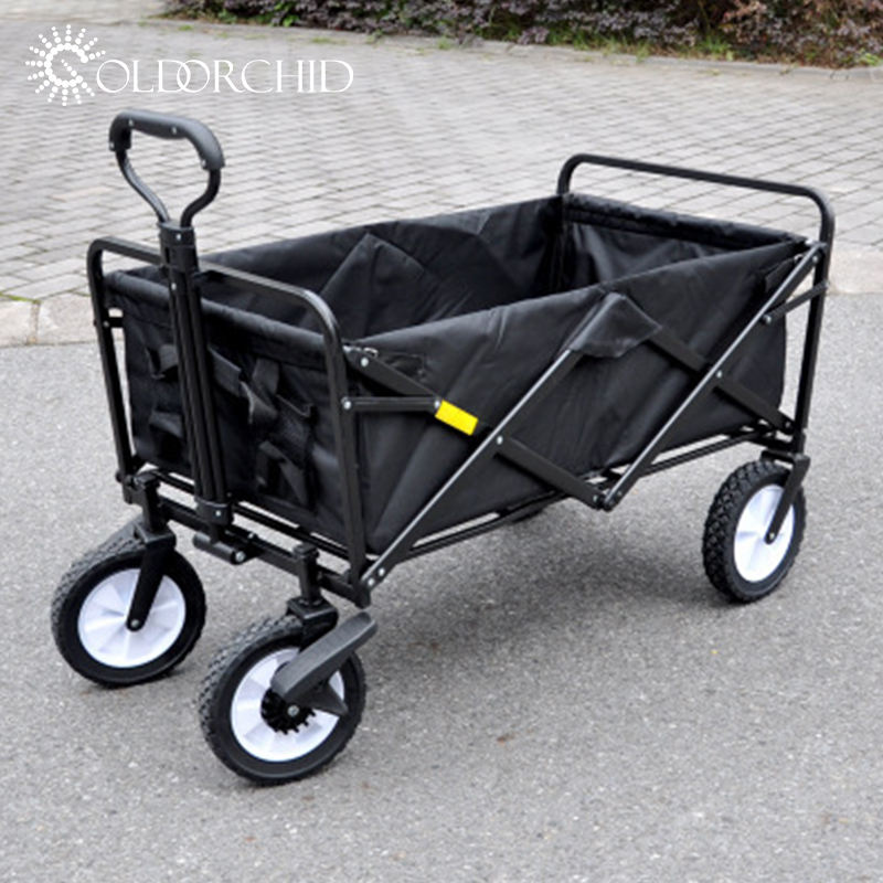 New Design Camping Picnic Beach Cart Collapsible Portable Outdoor Folding Hand Cart