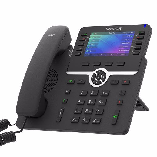 China 6 empresa voip telefone sip sip display colorido de alta alavanca C66